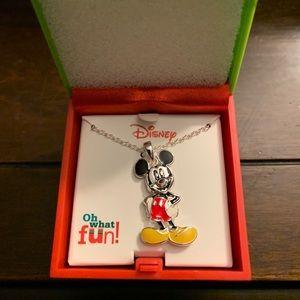 Disney Enamel Mickey Pendant  with music box!